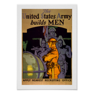 Army Builds MEN Poster