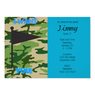Army Camo Birthday Card
