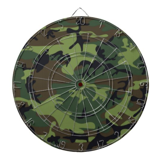 Army Camo Dartboard