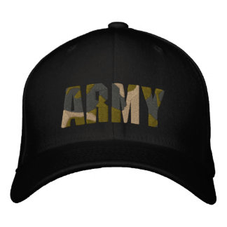 ARMY camo hat Embroidered Hats