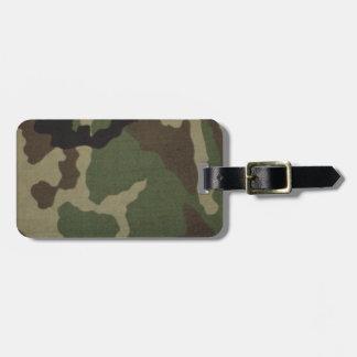Army Camo Luggage Tag