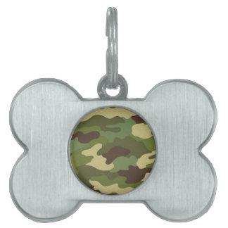 Army Camo Pet ID Tag