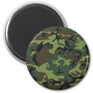 Army camouflage 2 inch round magnet