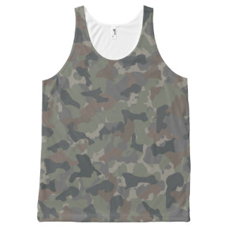 Army camouflage All-Over-Print tank top