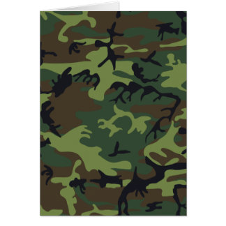 Army camouflage card
