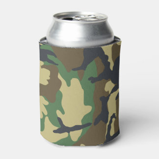 Army Camouflage Hunting Fishing Green Brown Can Cooler