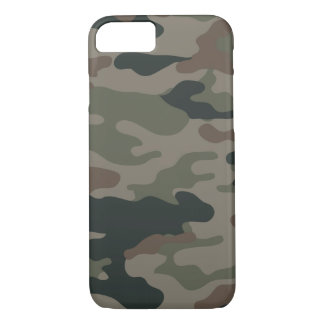Army Camouflage in Green and Brown Military iPhone 7 Case