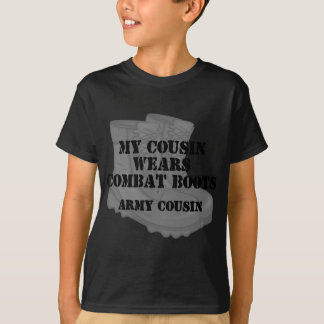 Army Cousin Combat Boots T-Shirt