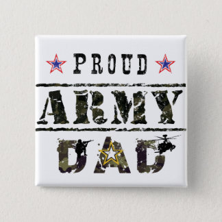 Army Dad 2 Inch Square Button