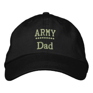 Army Dad Military Family Pride Embroidered Baseball Caps