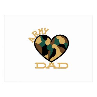 Army Dad Postcard