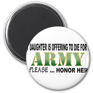 Army Daughter Offering Magnet