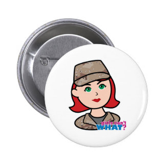 Army Desert Camo Head Red Pinback Buttons