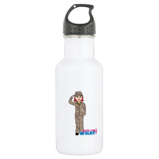 Army Desert Camo Red 18oz Water Bottle