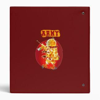 army eagle soldier cartoon style vinyl binders