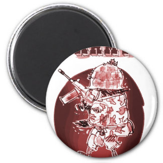 army eagle soldier posterize red 2 inch round magnet