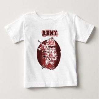 army eagle soldier posterize red baby T-Shirt