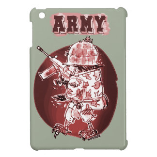 army eagle soldier posterize red cover for the iPad mini