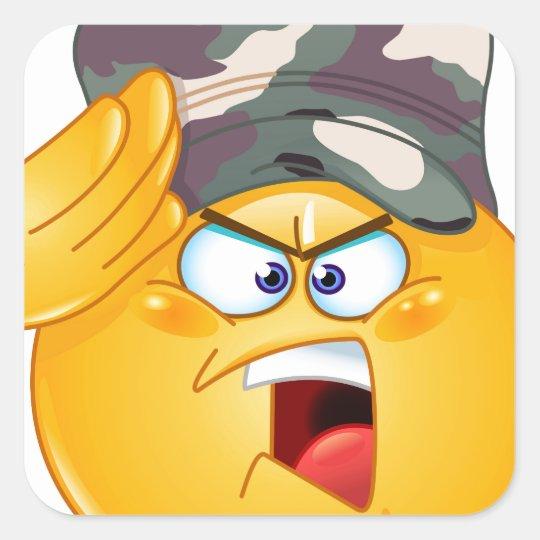 army emoji square sticker
