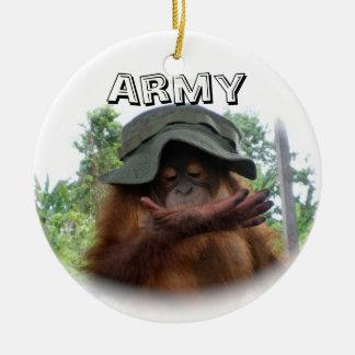 Army Fan Cute Ceramic Ornament