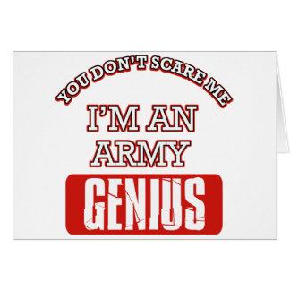 Army genius greeting cards