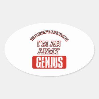Army genius oval stickers