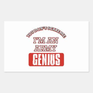 Army genius rectangular stickers