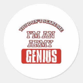 Army genius round sticker