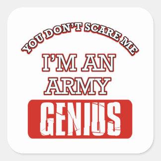 Army genius square sticker