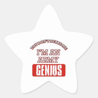 Army genius star sticker