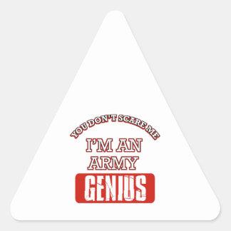 Army genius triangle stickers