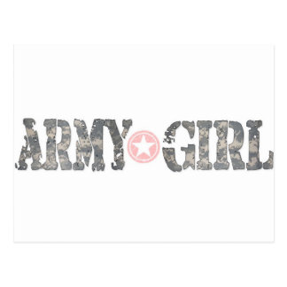 ARmy Girl Camo Postcard
