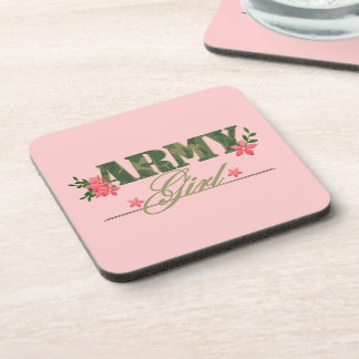 Army Girl Beverage Coaster