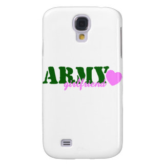 Army Girlfriend Green Pink Heart Galaxy S4 Cover