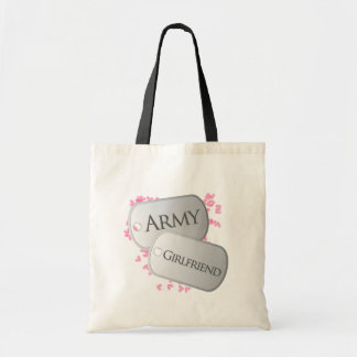 Army Girlfriend Pink Dog Tags Tote Bag