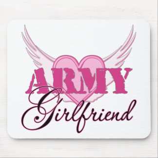 Army Girlfriend Wings Mouse Pad