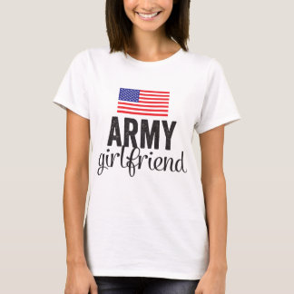 Army Girlfriend with USA Flag T-Shirt