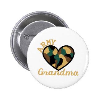 Army Grandma 2 Inch Round Button