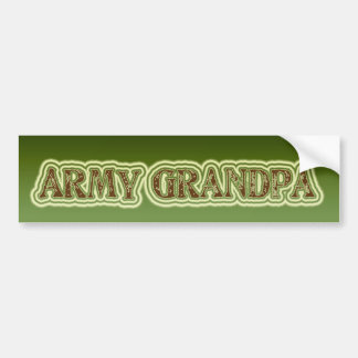 Army Grandpa Bumper Sticker