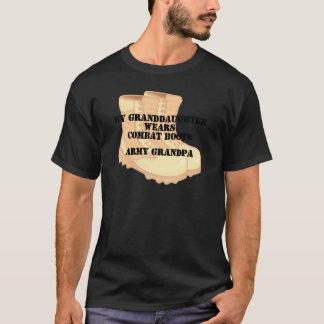Army Grandpa Granddaughter Desert Combat Boots T-Shirt