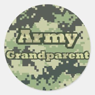Army Grandparent Classic Round Sticker
