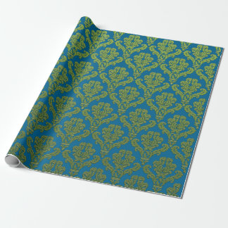 Army Green Damasks On Torques Wrapping Paper