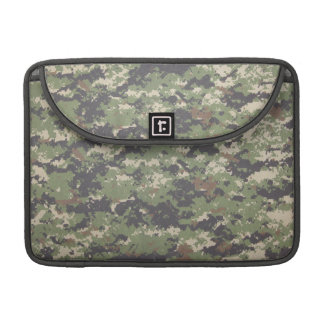 Army Green Digital Camouflage Sleeve For MacBook Pro