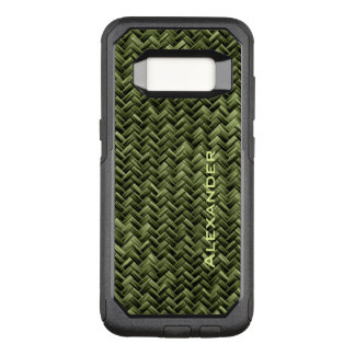 : Army Green Faux Basket Weave Pattern OtterBox Commuter Samsung Galaxy S8 Case