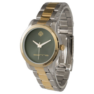 Army Green Metallic Watch