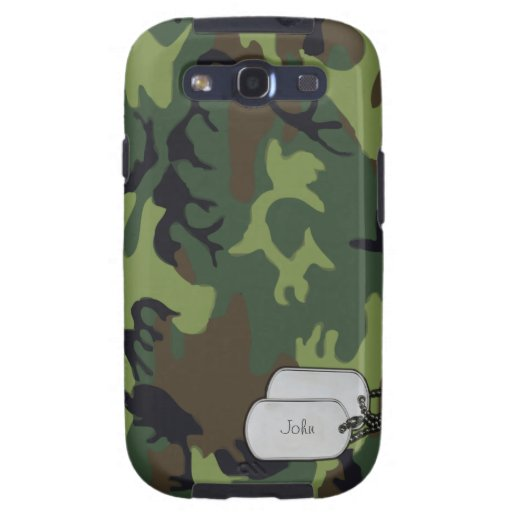 Army Green Military Camouflage Samsung Galaxy SIII Covers