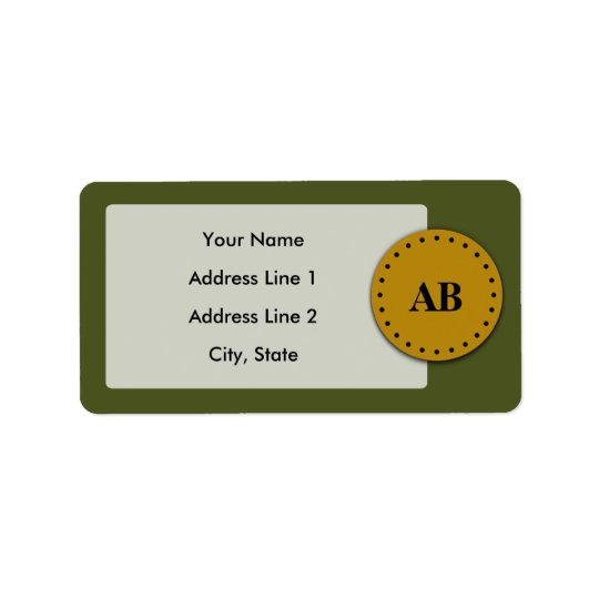 Army green monogram design