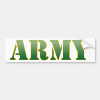 Army - Green Text Bumper Sticker