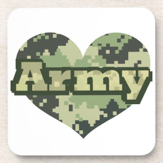 Army Heart Drink Coaster