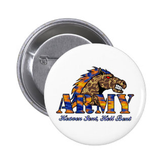 Army Horse Pinback Button